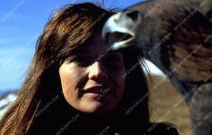 Blair Brown and an eagle 35m-1042