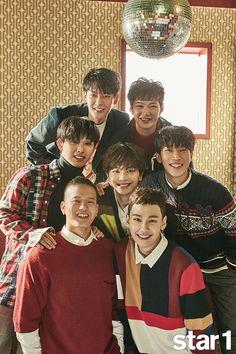 BTOB   @Star1 Sungjae Btob, Lee Changsub, Minhyuk, Im Hyun Sik, Born To Beat, Idole, Cover Model, Cube Entertainment, My Melody