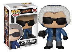 From the television series The Flash, this Funko Pop! Vinyl figure stylizes Captain Cold, the alter ego of Leonard Snart, as portrayed by Wentworth Miller. He's dressed in a blue jacket and has his co