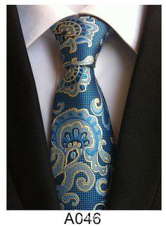 8 cm neck ties for men luxury silk mens necktie corbata black Gravata  Jacquard Slim Tie Business paisley corbatas seda f9ccaaca5