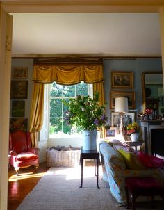 an English sitting room