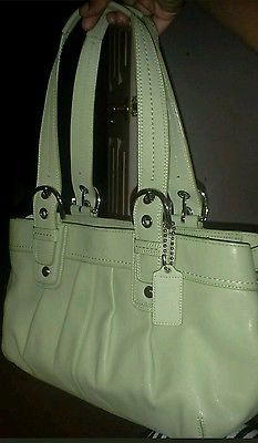 COACH  F13732 Soft Leather Green Carry All Tote Shoulder Bag Purse NWOT  Career Wear 3226a0316c58d