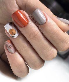 Fall Acrylic Nails, Autumn Nails, Nails Design Autumn, Winter Nails, Summer Nails, Fall Nail Art Designs, Short Nail Designs, Classy Nails, Stylish Nails
