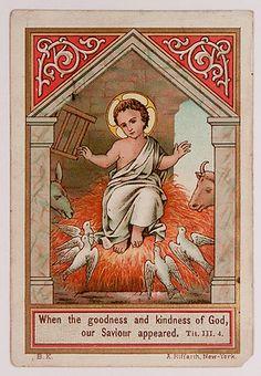Antique German Holy Card Christ Child