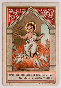 Antique German Holy Card Christ Child