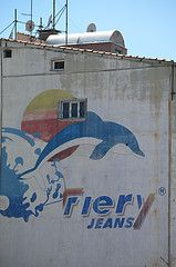 #wall #art in #Istanbul #street #guerrilla #dolphin #animal #painting