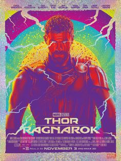 Thor: Ragnarok Holographic Poster - Tracie Ching