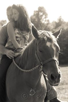 horse farm engagement