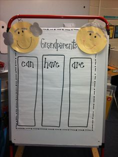 Grandparent's Day activity...one of my favorite celebrations for our kiddos...I want to do this!!!