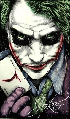 Join my group for more Joker and Harley Quinn Fan Art! : For Michael, for the beautiful comics he has given me I used a cosplay photo as a reference. I hope you like her. Joker Batman, Heath Ledger Joker, Joker Hd Wallpaper, Joker Wallpapers, Catwoman, Batgirl, Joker Drawings, Der Joker, Joker Poster
