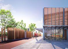 SOA Architects Paris > Projects > ECO-NEIGHBORHOOD & MARKET HALL
