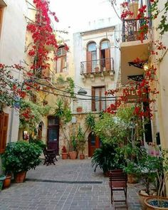The old town of Chania, Crete island, Greece