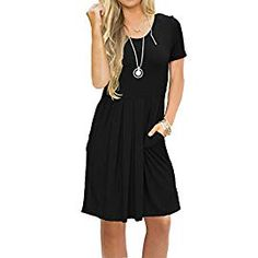 Looking for AUSELILY Women's Sleeveless Pleated Loose Swing Casual Dress Pockets Knee Length ? Check out our picks for the AUSELILY Women's Sleeveless Pleated Loose Swing Casual Dress Pockets Knee Length from the popular stores - all in one. Plus Size Maxi Dresses, Casual Dresses, Short Sleeve Dresses, Summer Dresses, Modest Dresses, Long Sleeve, Beach Sundresses, Summer Outfits, Halter Dresses
