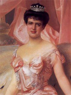 Retrato de Amélie d'Orléans (1865-1951)  Dona Maria Amélia Luísa Helena de Orleães foi a última Rainha de Portugal.  Durante a sua vida, D. Amélia perdeu todos os seus familiares diretos: defrontou-se com o assassinato do marido, o Rei Carlos I, e do filho mais velho, D. Luís Filipe (episódio conhecido como regicídio de 1908.