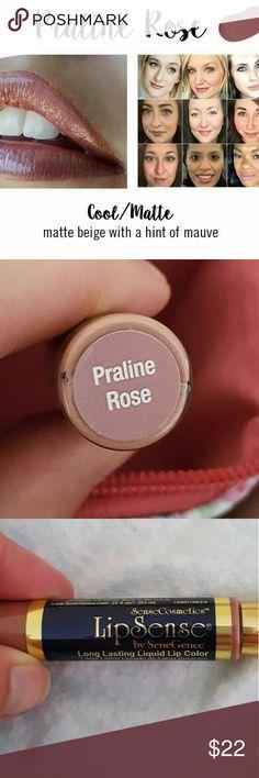 LipSense Praline Rose Lip Color Long-lasting, kiss-proof, smudge-proof lip color SeneGence  Makeup Lipstick