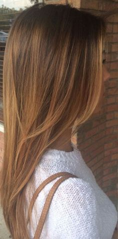 Balayage straight hair #gorgeoushair