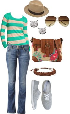 """spring time casual"" by ann-eastham on Polyvore"