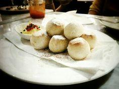 Snowy dough balls from Pizza Marzano