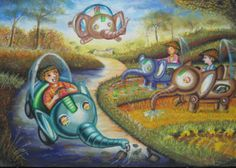 'Environmentally Friendly Car' by Diana Silvana, Aged 13, Indonesia: 4th Contest, Bronze #KidsArt #ToyotaDreamCar