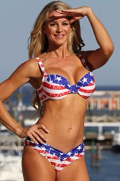 bf5b429c2349f UjENA American Shaper Bikini - NEW 2015 Collection After Purchase - Contact  Us for the Correct Size Be an All American Girl in this vintage