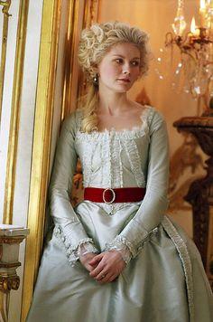 Marie antoinette lovely hair and dress.