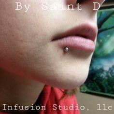 #lip #lippiercing #jewelry #bodyjewerlry #needles #art #infusionstudio #steel #saintd #modification #mods