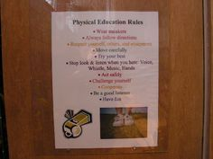 Physical Education Rules Image..I like the pic of sneakers and the whistle