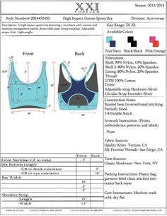 Mock Tech Packs Created and Completed in Adobe IllustratorSports Bra Tech Pack Make sure to check out my fitness tips, nutrition info and…Cheeseburger Lettuce Wraps - Life In The LofthouseYogurt* Oatmeal* and Fruit BowlsMy design portfolio online. Flat Drawings, Flat Sketches, Technical Drawings, Sewing Bras, Tech Pack, Bra Pattern, Moda Fitness, Fitness Tips, Lingerie