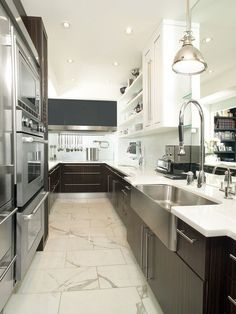 west coast contemporary galley kitchen - Google Search