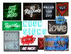 """""""NEON SIGNS"""" by tigerfashion ❤ liked on Polyvore featuring art"""