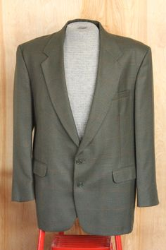 Vintage Men's Windowpane Houndstooth Green by foundundertheeaves, $35.00