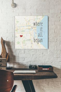 Custom Map Gift Where it began Romantic Holiday Gifts Map Art Personalized Best Friend Gift Romantic Map with Quote Art Customized Cotton Wedding Anniversary Gift, Second Wedding Anniversary, Personalized Best Friend Gifts, Welcome Letters, Thing 1, Quote Art, Custom Map, Engagement Gifts, Map Art