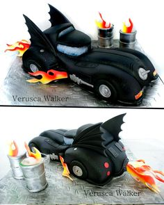 Dark Knight Car by Verusca Walker Plus Tutorial at Cakes Decor