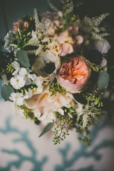 Garden inspired bouquet: http://www.stylemepretty.com/2015/04/29/elegant-wedding-on-the-connecticut-shoreline/ | Photography: Tony Spinelli Photography - tonyspinelliphotography.com