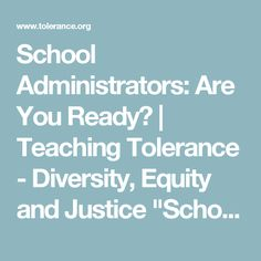 """School Administrators: Are You Ready? 