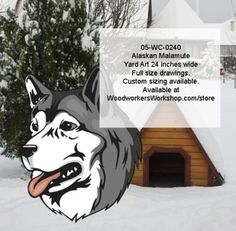 05-WC-0240+-+Alaskan+Malamute+Dog+Yard+Art+Woodworking+Pattern