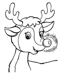 Rudolph Christmas Coloring Pages Printable The Santa Reindeer Page