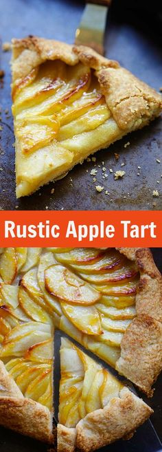 Rustic Apple Tart – the best and easiest apple tart recipe ever with buttery and the flakiest crust and sweet apple filling. A must-bake | rasamalaysia.com