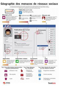 Géographie des menaces de réseaux sociaux [infographie] | Info Magazine