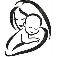 Mothers Love ~ Baby and Mom Machine Embroidery Designs This design Overview - Size: Also hoops available If required size ( in Inch ) modification base on hoop size like , Will do that based on request. Machine Embroidery Projects, Applique Embroidery Designs, Machine Embroidery Applique, Baby Embroidery, Baby Silhouette, Mommy Tattoos, Baby Tattoos, Diy Leather Bracelet, Arte Tribal