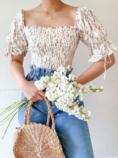 Mode Outfits, Girly Outfits, Cute Casual Outfits, Pretty Outfits, Fashion Outfits, Casual Clothes, Cute Vintage Outfits, Fashion Ideas, Fashion Guide