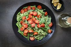 Spaghetti with Roasted Tomato & Asparagus Pesto 28 By Sam Wood, Pesto Recipe, Best Anti Aging, Roasted Tomatoes, Cherry Tomatoes, Tray Bakes, Pasta Salad, Asparagus, A Food