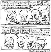 Top Cardboard Crack Comics of 2014, 10 to 6  | Magic the Gathering Jokes Nerd Humor
