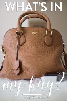 What's In My Bag | Tory Burch Robinson Open Dome Satchel - My Newest Addiction