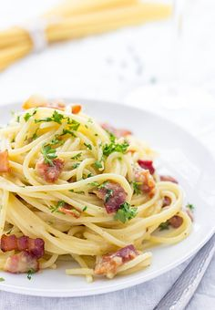 If you've never tried Spaghetti Carbonara, you gotta do it now. It has a silky smooth texture, incredible flavor and rich taste.