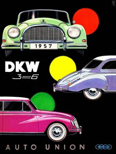 "Auto Union DKW 3=6 (1957) Typ F93 / F94 ""Großer DKW""                                                                                                                                                                                 Más"