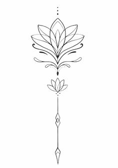 Back Tattoo Women Spine, Cover Up Tattoos For Women, Back Of Neck Tattoo, Spine Tattoos For Women, Tattoos For Women Small, Small Tattoos, Sternum Tattoo Lotus, Tattoo Femeninos, Lotus Tattoo Design