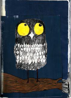 owl (artist unknown) Pinned by www.myowlbarn.com