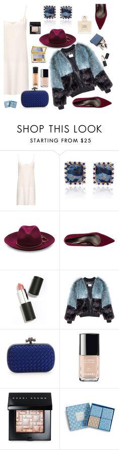 """Slip Dress White"" by dorachelariu ❤ liked on Polyvore featuring moda, Raey, Sensi Studio, Trotters, Sigma Beauty, Bottega Veneta, Chanel, Bobbi Brown Cosmetics, Vera Bradley y MAC Cosmetics"