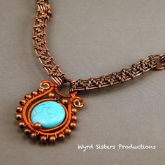 I like this turquoise and copper pairing